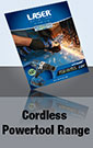 Laser Tools new Cordless 'One Battery powers all' Power-Tools range.