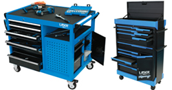 New range of Laser Tools Racing tool chests and roll cabinets — as used by the BTCC team!