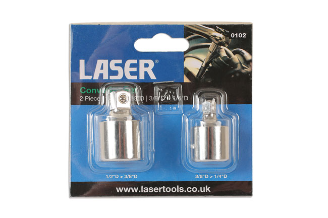 "~/items/xlarge/Packaging image of Laser Tools | 0102 | Convertor Set - 1/2"">3/8"" & 3/8"">1/4"" 2pc"