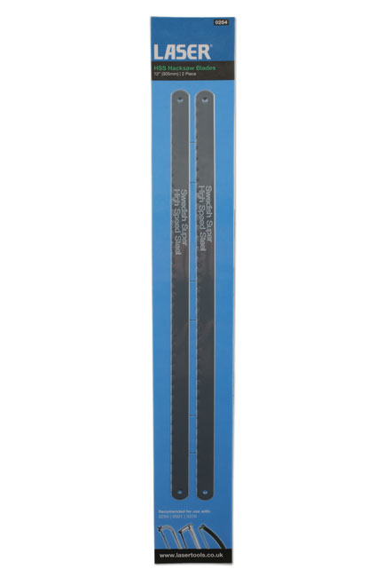 Laser Tools 0254 HSS Hacksaw Blades 24tpi 2pc