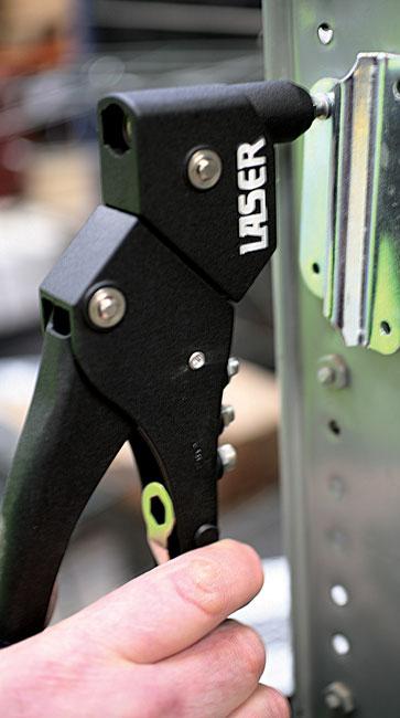 Laser Tools 0686 Swivel Head Standard Riveter with 30 Rivets