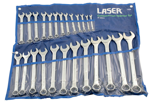 ~/items/xlarge/Packaging image of Laser Tools | 1329 | Combination Spanner Set - 25pc