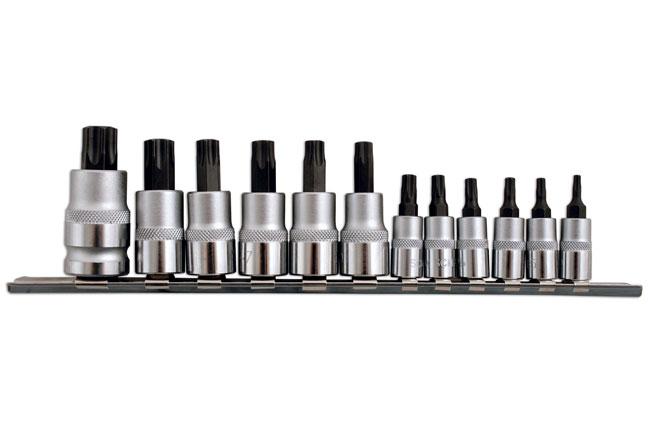 """Laser Tools 2196 Short Star Socket Bit Set 1/4""""D, 3/8""""D, 1/2""""D 12pc"""