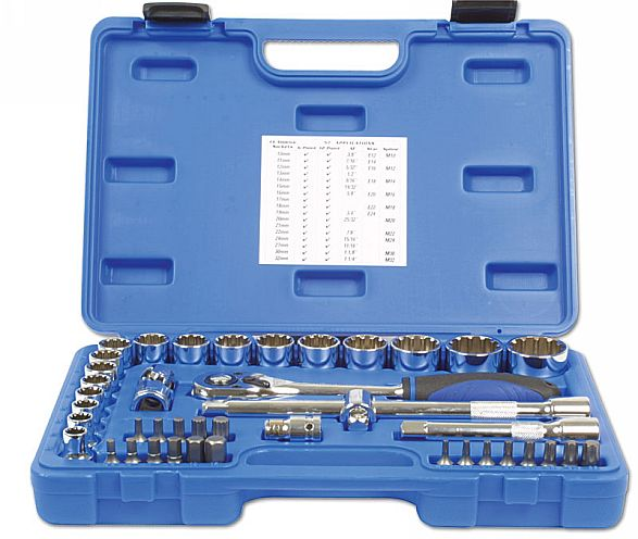 "Laser Tools 3571 Alldrive Socket Set 1/2""D 42pc"