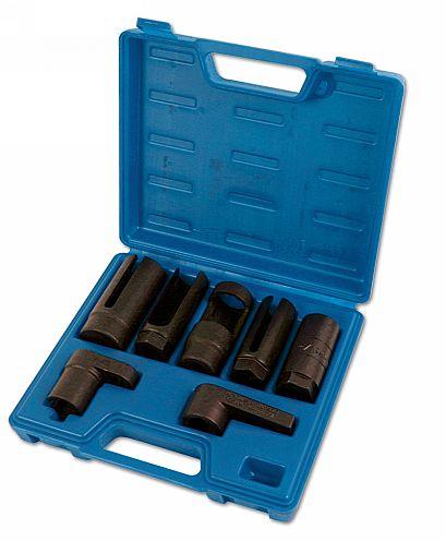 """Lambda Sensor Socket Set 3/8""""D, 1/2""""D 7pc"""
