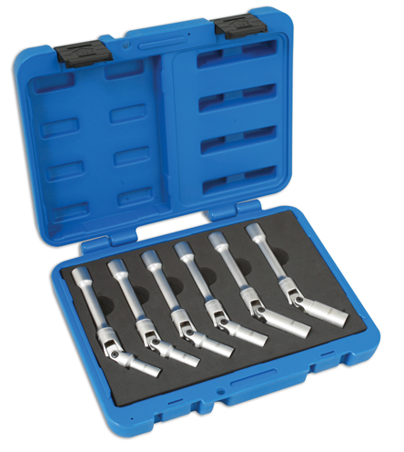 "Glow Plug Socket Set - Extra Long 3/8""D 6pc"