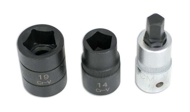 Pentagon Socket & Bit Set 3pc