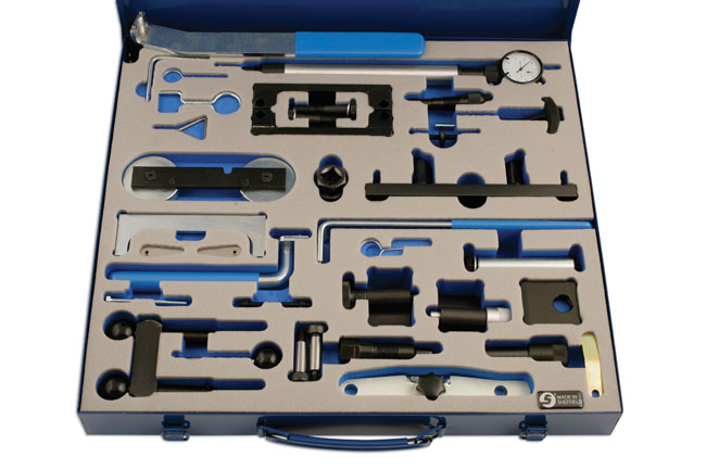 Overhead image of Laser Tools | 4864 | Master Engine Timing Tool Kit - VAG  ...