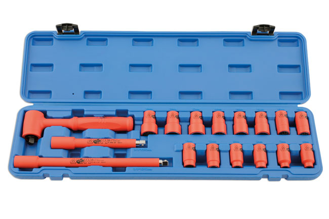 "Insulated Socket Set 3/8""D 17pc"