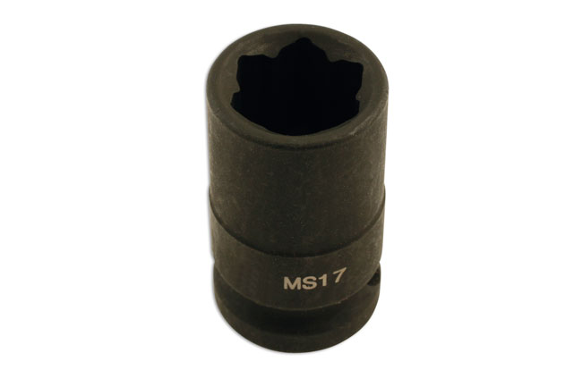 Wheel Nut Socket Convex 17mm