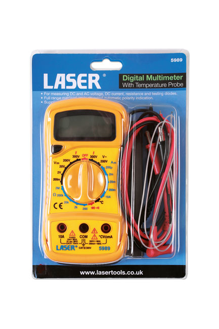 ~/items/xlarge/Packaging image of Laser Tools | 5989 | Multi Meter/Temp Tester - Digital