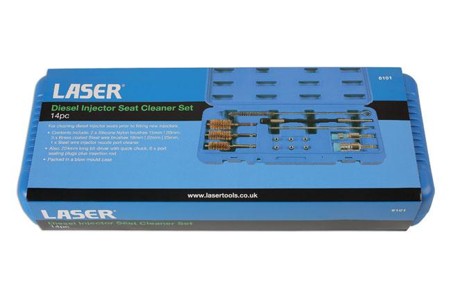 Laser Tools 6101 Diesel Injector Seat Cleaner Set 14pc