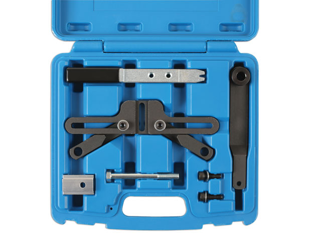 Overhead image of Laser Tools | 6111 | Flywheel Locking Tool Set - BMW MINI