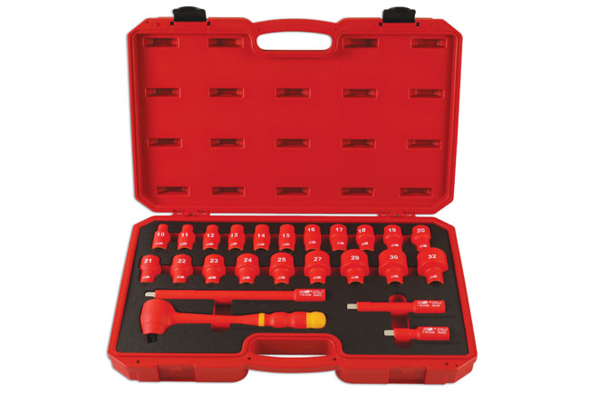 """Laser Tools 6149 Insulated Socket Set 1//2/""""D 20pc"""