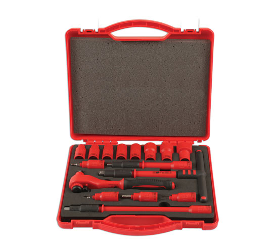 "Insulated Socket Set 3/8""D 16pc"