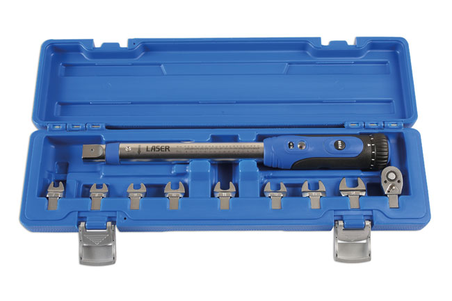 "CaseRight image of Laser Tools | 6167 | Torque Wrench 10-50Nm 1/4""D 10pc"