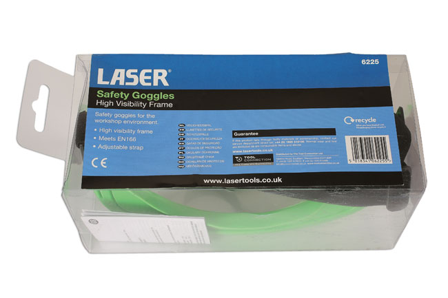 Packaging image of Laser Tools | 6225 | Safety Goggles Hi Vis