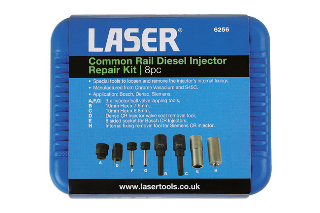 Common Rail Diesel Injector Repair Kit 8pc | Part No  6256 | Part of