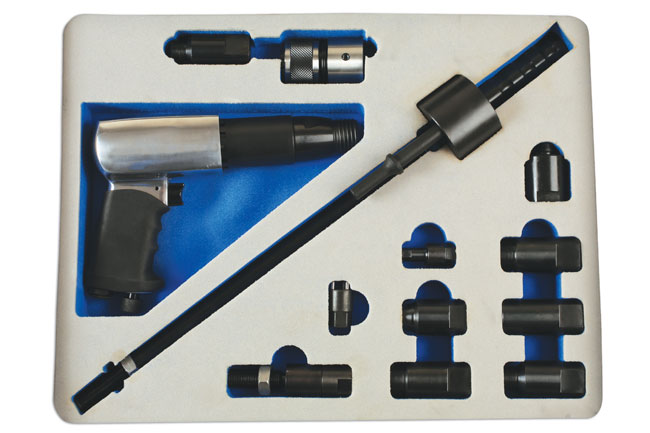 Overhead image of Laser Tools | 6263 | Diesel Injector Extractor with Air Hammer & Adaptors