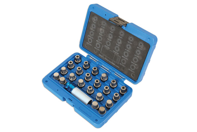 Laser Tools 6275 Locking Wheel Nut Key Set 23pc - for VAG