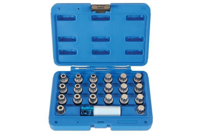 Locking Wheel Nut Key Set 21pc - for BMW