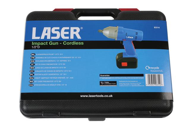 "Laser Tools 6314 Impact Gun - Cordless 1/2""D 18V"