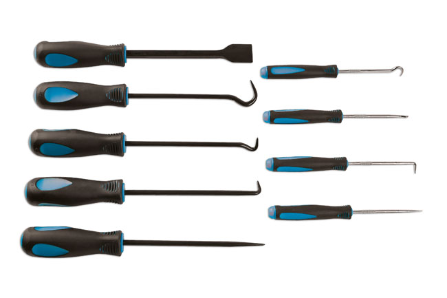 image of Laser Tools | 6382 | Pick Hook and Scraper Set 9pc
