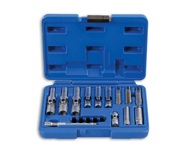 """Specialist Thin Wall Glow Plug Socket Set 1/4""""D, 3/8""""D 18pc"""