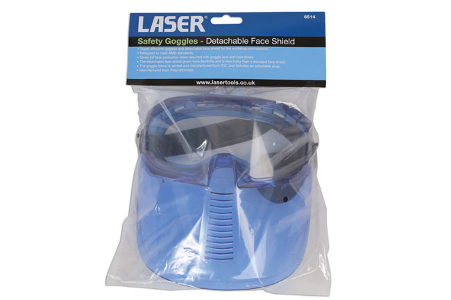 ~/items/xlarge/Packaging image of Laser Tools | 6514 | Safety Goggles - Detachable Face Shield