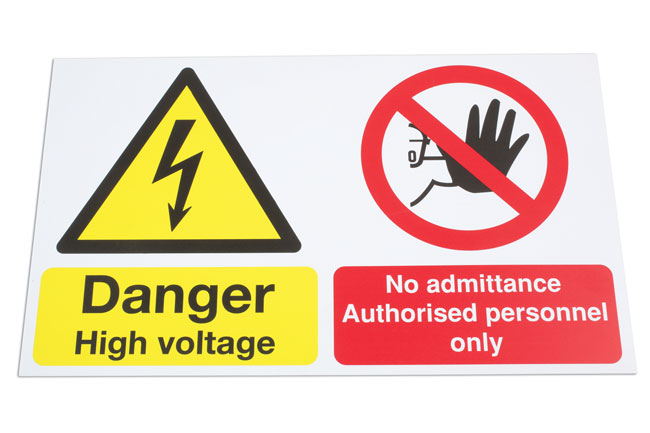 High Voltage/No Admittance Sign