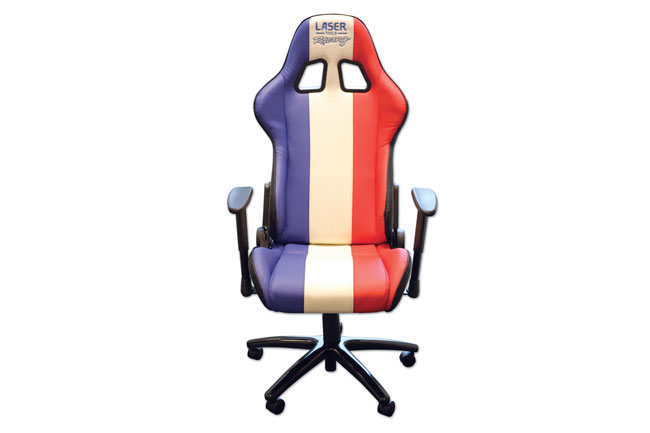 6656 Laser Tools Racing Chair - Red, White & Blue