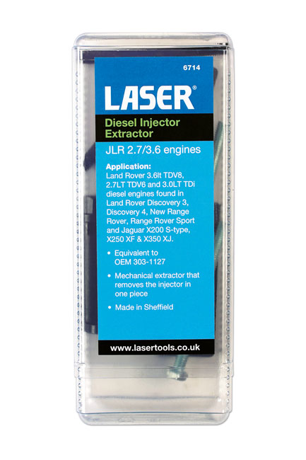 ~/items/xlarge/Packaging image of Laser Tools | 6714 | Diesel Injector Extractor JLR 2.7/3.6 engines