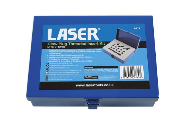 Laser Tools 6779 Glow Plug Threaded Insert Kit M10 x 1mm