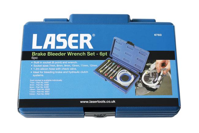 Laser Tools 6783 Brake Bleeder Wrench Set 7pc