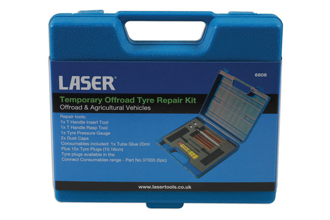 ~/items/xlarge/Packaging image of Laser Tools | 6806 | Temporary Offroad Tyre Repair Kit