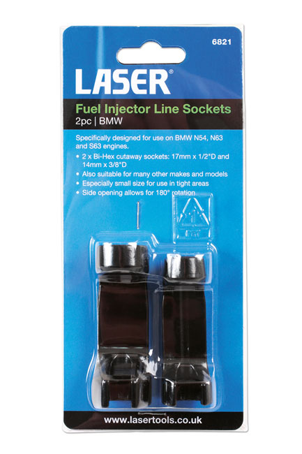 ~/items/xlarge/Packaging image of Laser Tools | 6821 | Fuel Injector Line Sockets 2pc - BMW