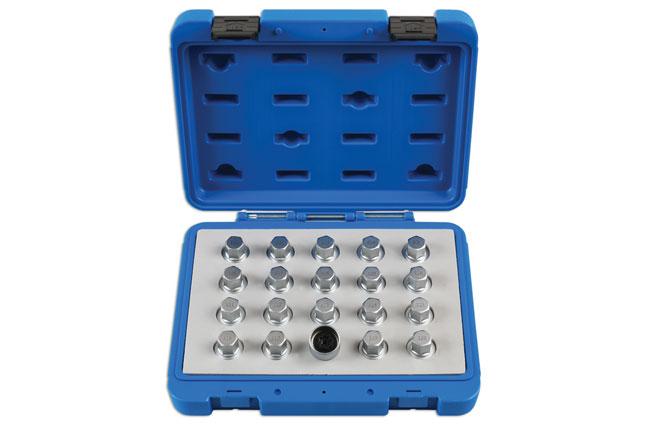 Locking Wheel Nut Key Set 20pc - for Vauxhall, Opel