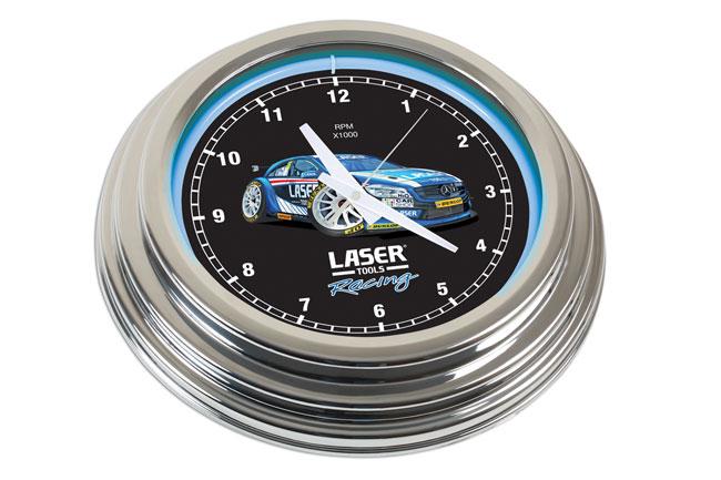 6924 Laser Tools Racing Neon Clock