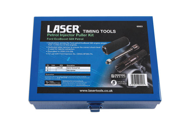 ~/items/xlarge/Packaging image of Laser Tools | 6953 | Petrol Injector Puller Kit Ford EcoBoost GDI, Petrol