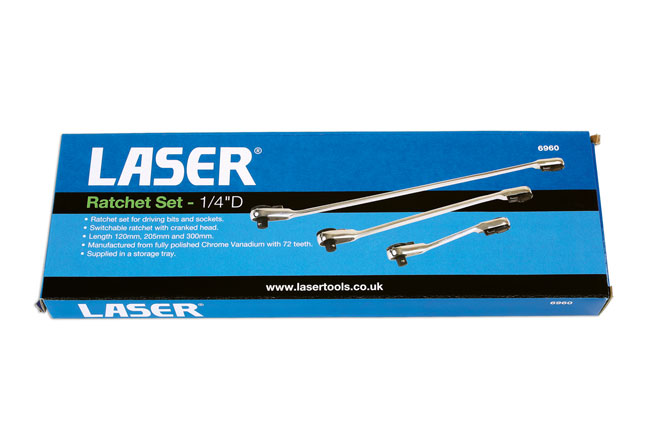 "~/items/xlarge/Packaging image of Laser Tools | 6960 | Ratchet Set  1/4""D 3pc"