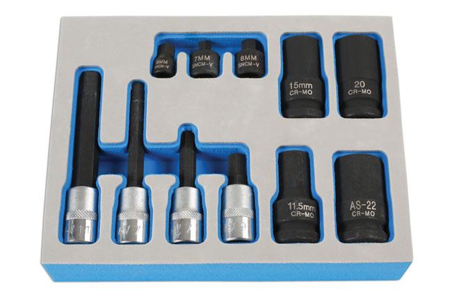Brake Caliper Socket & Bit Set 11pc - for German Vehicles