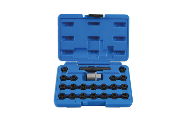 Locking Wheel Nut Key Set 22pc - for VAG