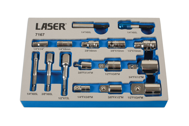 ~/items/xlarge/ image of Laser Tools | 7167 | Adaptor Set 16pc