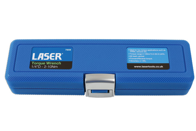 "~/items/xlarge/Packaging image of Laser Tools | 7233 | Torque Wrench  1/4""D - 2-10Nm"