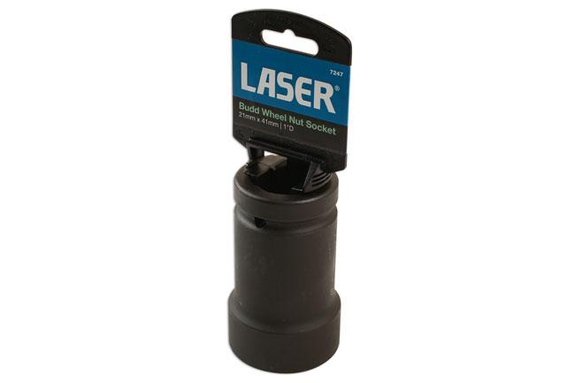 """Laser Tools 7247 Budd Wheel Nut Socket 1""""D 21mm x 41mm"""
