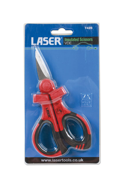 ~/items/xlarge/Packaging image of Laser Tools | 7426 | Insulated Scissors VDE