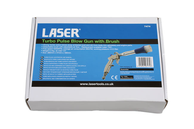 ~/items/xlarge/Packaging image of Laser Tools | 7474 | Turbo Pulse Blow Gun with Brush