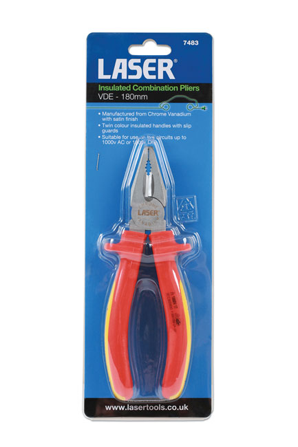 ~/items/xlarge/Packaging image of Laser Tools | 7483 | Insulated Combination Pliers