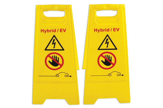 Hybrid/EV Floor Warning Signs 2pc
