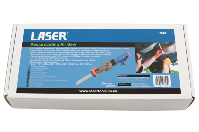 ~/items/xlarge/Packaging image of Laser Tools | 7625 | Reciprocating Air Saw